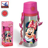 Minnie Mouse Pipetli Çelik Matara (600 Ml.) 72967