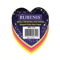 Rubenis Rps114 Not Kağıdı Kalp Desenli Fosforlu