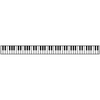 Piyano Tuşeli Pencere Bandı