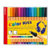 Stabilo Pen 68 Keçeli Kalem Mini Color Hits CD 15 Renk