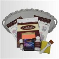 Artebella Sizde Yapabilirsiniz Seti Füruzan Polyester Tepsi (Sy056)