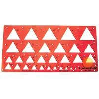 Standardgraph Üçgen Şablon 3-32mm