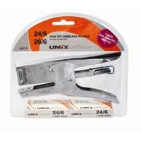 Umix 2272 Pens Tipi 20 Sf. Büyük Boy Zımba Makinesi 24/6 Tel uyumlu