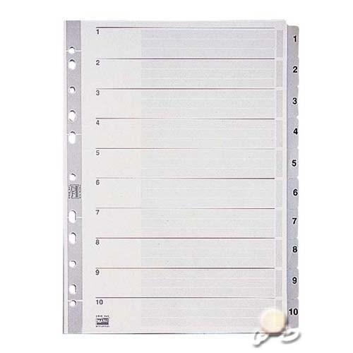 Esselte Separatör A4 1-10 Rakam Gri 100105