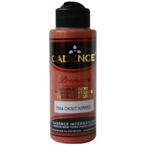Cadence Premium Akrilik Boya 120ml 7554 Oksit Kırmızı