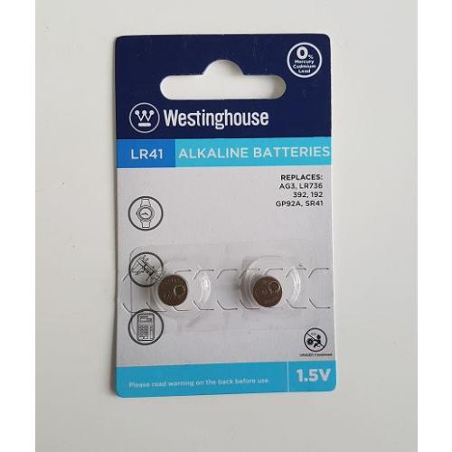 Westinghouse AG3,LR41 Alkalin Saat Pili 2li Blister Ambalaj