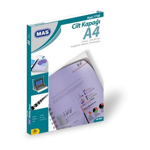 Mas 7740 Cilt Kapağı Pp - A4- 100 Lü Pk.Mavi,