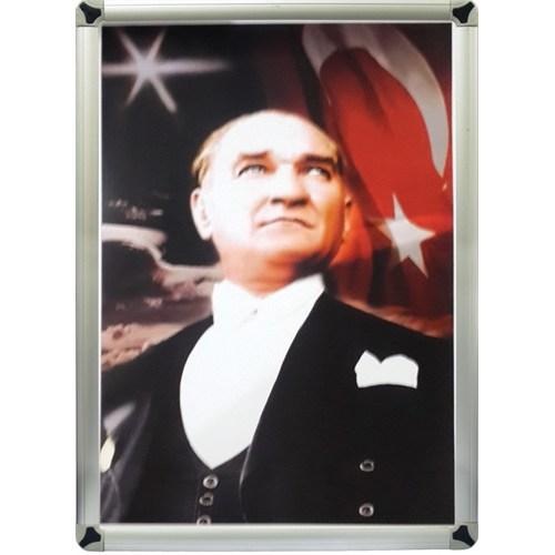 Akyazı 35x50 Atatürk Posteri-3 (Metal Çerçeve)