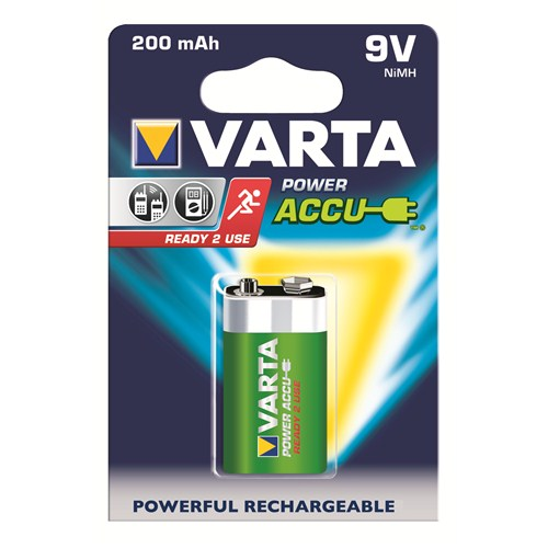 Varta Power Accu Ready 2 Use 9V Pil - E 200mAh 56722101401