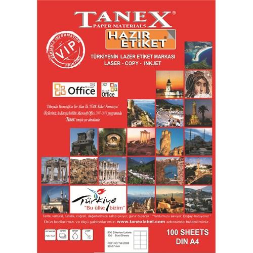 Tanex TW-2125 25 mm Laser Etiket 100 Ad.