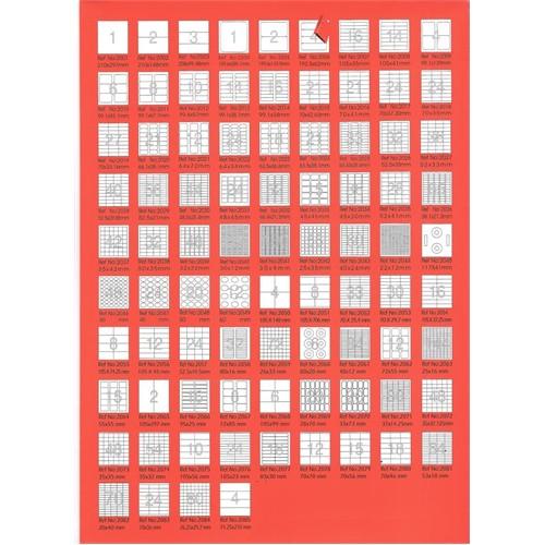 Bp A4 Lazer Etiket Ölçüleri 63,5 X 46,6 Mm 100 Sayfa Laser Yazıcı Etiketi