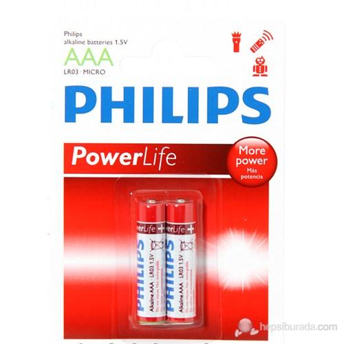 Philips LR03P2B/10 AAA 2'li Alkalin İnce Kalem Pil