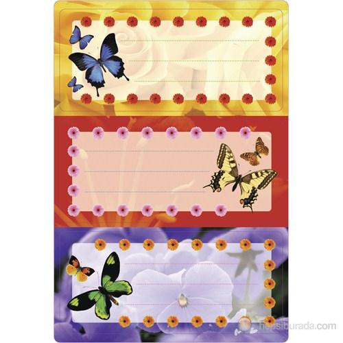 Herma Okul Etiketi Kelebekler