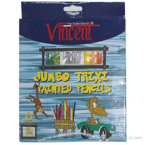 Vincent Trixi Natürel Kuru Boya Kalemi 12'li Renkli