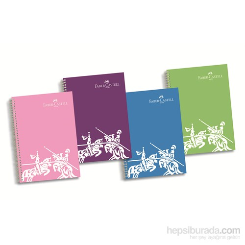 Faber-Castell PP Kapak 5 Blm Renkli Kenar Çizgi Defter 200 Yaprak (5075400181)
