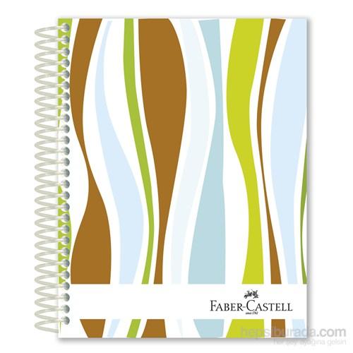 Faber-Castell Sert Kapak Sep.4+1 Dalgalar Defter 80gr 200 Yaprak (5075400507)