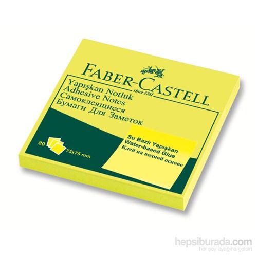 Faber-Castell Yapışkan Notluk 75x75mm Fosforlu Sarı (5089565434)