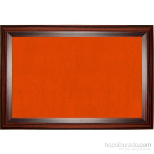 Akyazı 60x120 Geniş Ahşap Çerçeve Renkli Pano (Turuncu)