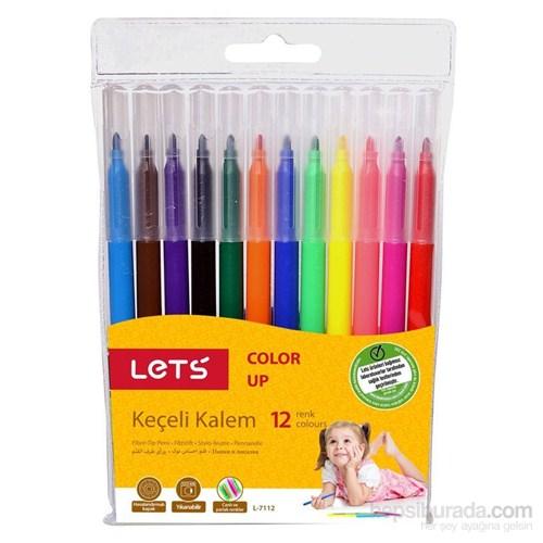 Lets 12 Renk Keçeli Kalem L-7112