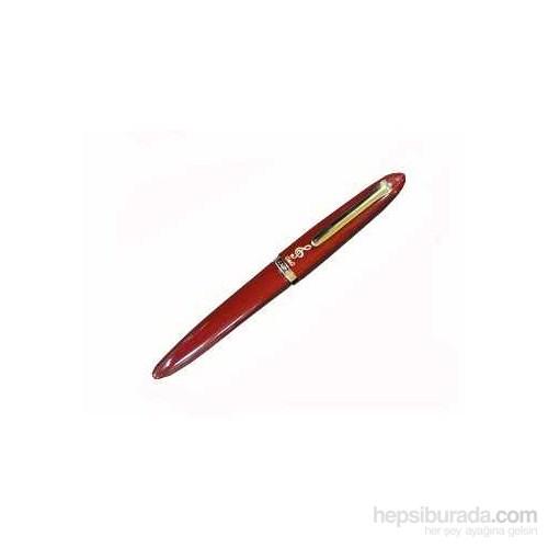 Sol Anahtarlı Dolma Kalem - Kırmızı