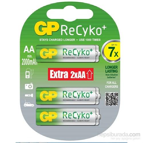 GP 6'lı (4+2) ReCyko Pro Ni-Mh Şarj Edilebilir AA Kalem Pil 2.000 mAh (GP210AAHCBLL-2UP6)
