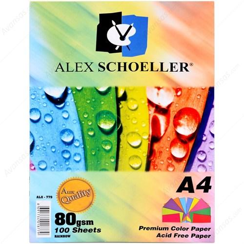 Alex Alx-779 Fotokopi Kağıdı 10 Renk 100'Lü Karışık Renk
