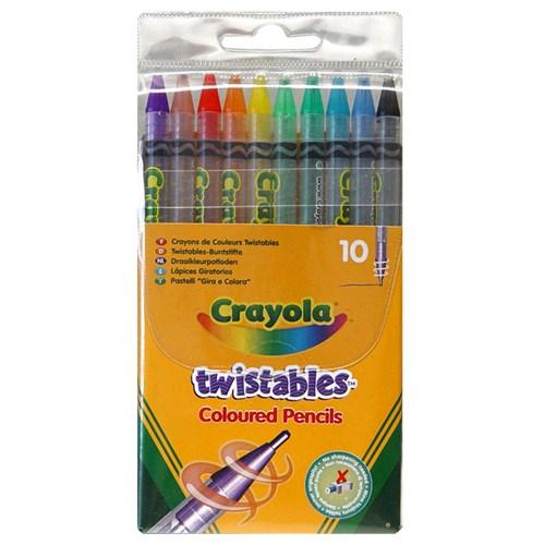 Crayola 10 Çevrilebilen Kuru Boya Kalemi (3634)