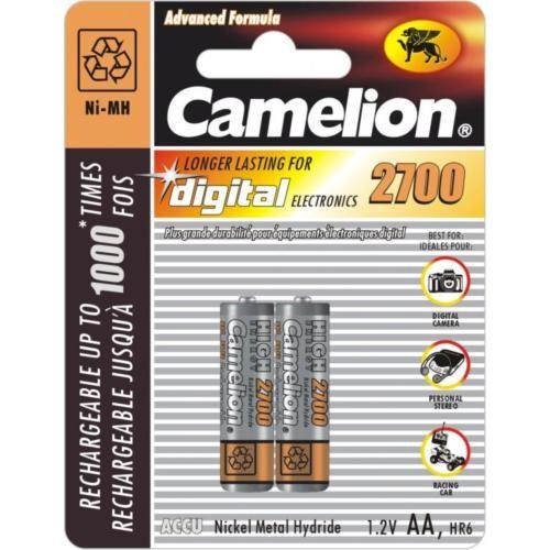 Camelion 2'li Şarjlı Pil ( AA - Kalem) Ni-mh 2700mAh