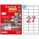 Tanex Tw-2327 70 Mm X 30 Mm 100 Sayfa Lazer