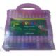 Jocco 24 Renk Pastel Boya Plastik Çantalı