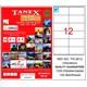 Tanex TW-2612 105x48 mm Laser Etiket 100 Ad.