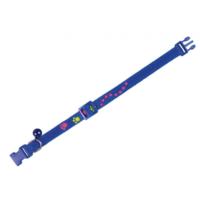Nobby Fosforlu Pati İzi Desenli Kedi Tasması Mavi