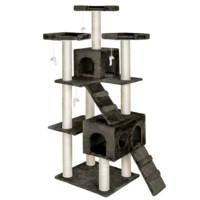 186Cm Lüks Kedi Tırmalama Ve Aktivite Merkezi-Siyah