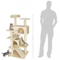 132Cm Lüks Kedi Tırmalama Ve Aktivite Merkezi-Bej