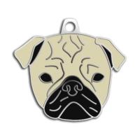 Dalis Pet Tag - Pug Köpek Künyesi (Krem)