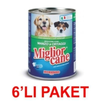 Miglior Cane Biftekli Sebzeli Köpek Konservesi 405 Gr (6'li Paket)