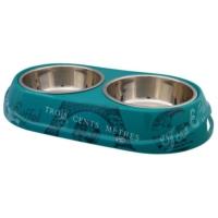 Trixie Köpek Çiftli Mama Su Kabı 2X0,45Lt 14Cm