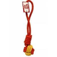 Flip Dtr-106 Köpek Diş İpi (Sarı-Kırmızı) 300 Gr 40 Cm