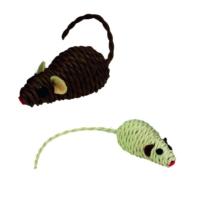 Nobby Küçük Halat Fare(Kahverengi,Bej) 7cm.