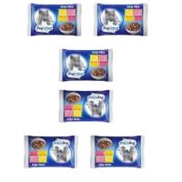 Prevital Vital Pack 2 Adet Biftekli + 2 Adet Tavuklu Kedi Pouch 4 X 100 gr 6 Adet