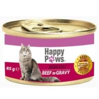 Happy Paws Beef in Gravy Sığır Etli ve Soslu Yetişkin Kedi Konservesi 80 Gr.