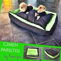 Kemique Çimen Parıltısı Köpek Yatağı 2XL