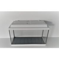 Kanki Pet Akvaryum 65 cm Beyaz Düz Tam Kapaklı 65 x 26 x 40 cm (65 litre)