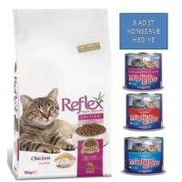 Reflex 15 Kg Adult Cat Food Tavuklu Yetişkin Kedi Maması