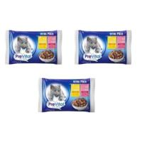 Prevital Vital Pack 2 Adet Biftekli + 2 Adet Tavuklu Kedi Pouch 4 X 100 Gr 3 Adet