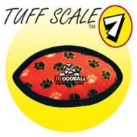 Tuffy Jr. Odd Ball Kırmızı Pati Desenli Peluş Köpek Oyuncağı