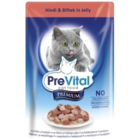 Prevital Erişkin Premium Hindi&Biftek İn Jelly Kedi Pouch 100Gr
