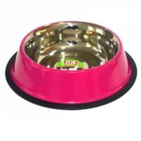 Flip Çelik Köpek Mama Su Kabı 24 Oz Pembe