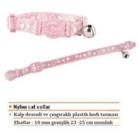 Eastland Plastik Çıngıraklı Pembe Kedi Boyun Tasması