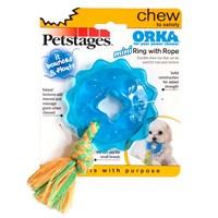 Petstages Orka Ring With Rope (Patentli Orka Malzemesi, Sağlığa Zararsız, Diş Kaşıyıcı,İpli Köpek Oyuncağı)